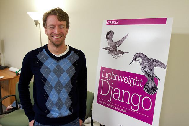 Mark Lavin standing next to Lightweight Django