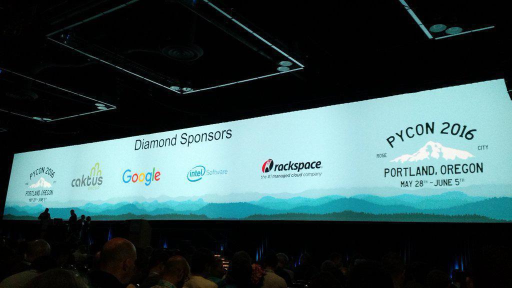 PyCon 2016 sponsor banner