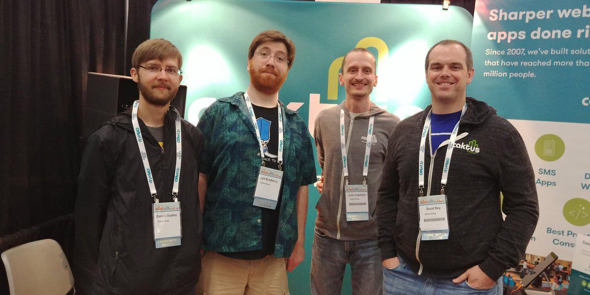 Some of the Caktus team at PyCon 2017