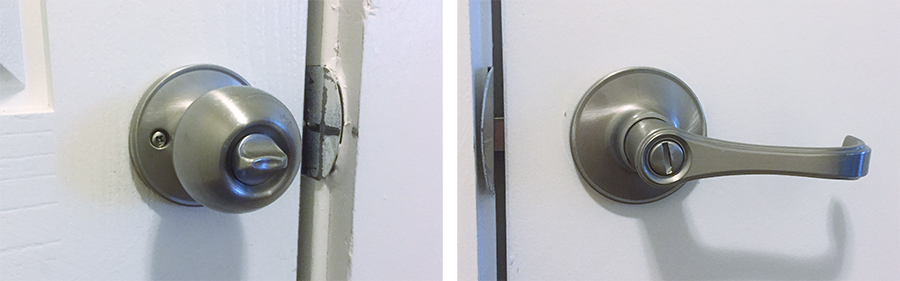 Example of door knobs with different affordances. (Principles of good UX)