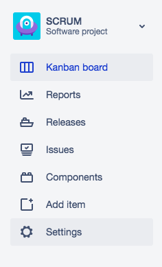 The project page nav in the new JIRA.