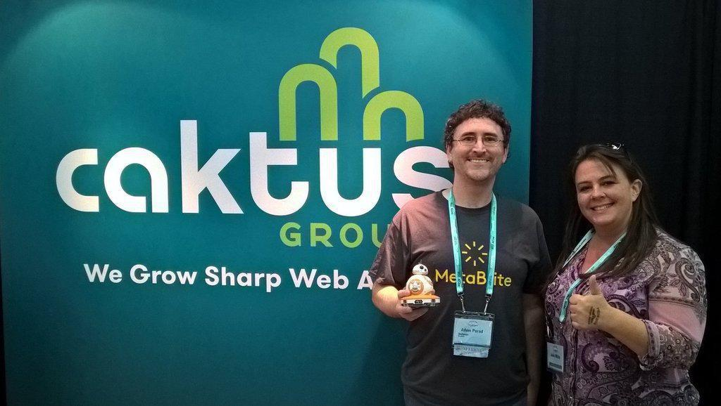 PyCon attendee wins the Caktus BB8 Sphero giveaway.